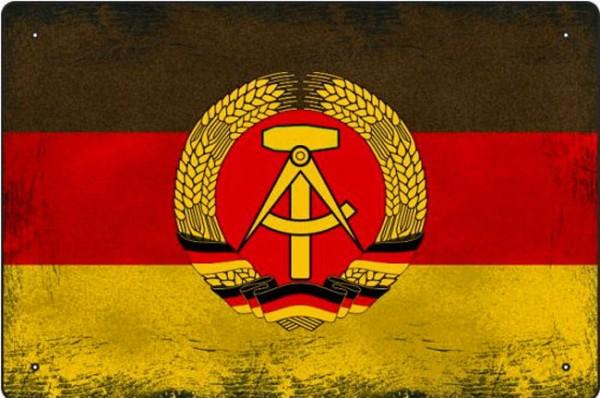 Blechschild DDR Fahne