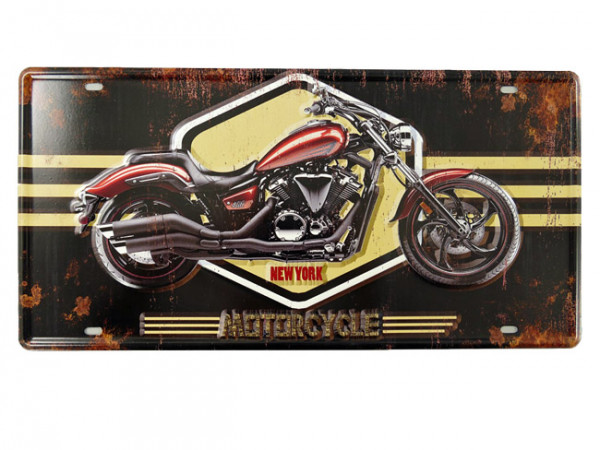 Blechschild New York Motorcycle