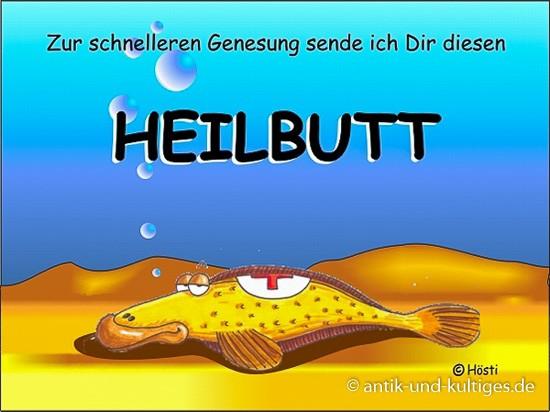 Emma-Postkarte Heilbutt