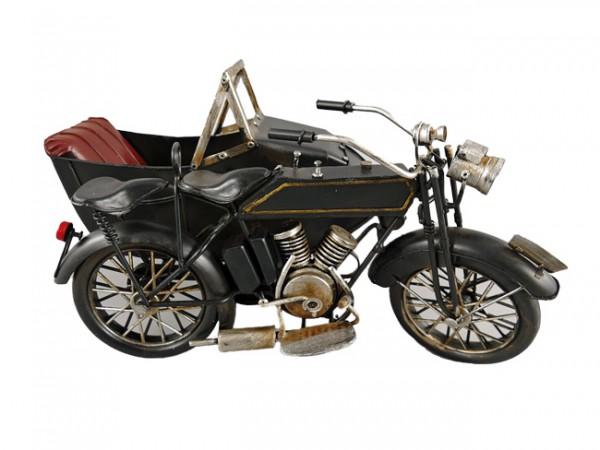 Motorrad mit Beiwagen Blechmodell 32 cm