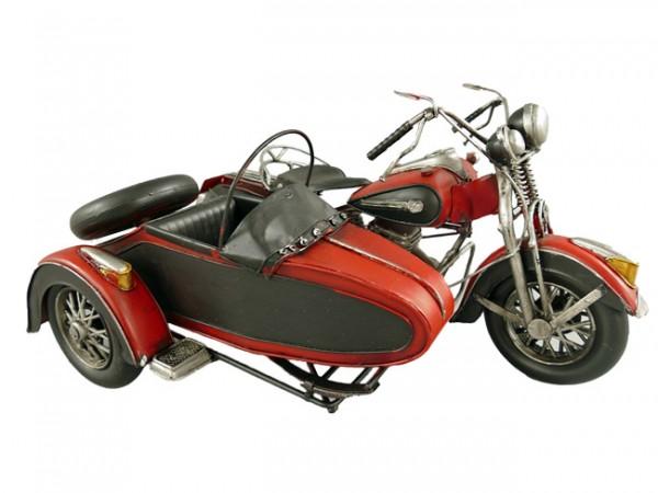 Motorrad mit Beiwagen Blechmodell 36 cm