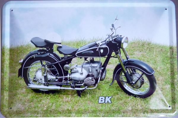 Blechschild Motorrad MZ BK