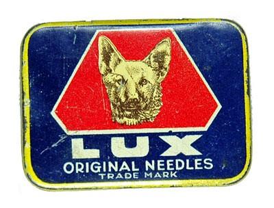 Lux, alte Grammophon Nadeldose