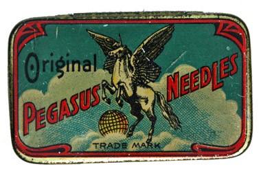 Pegasus Needles, alte Grammohon Nadeldose