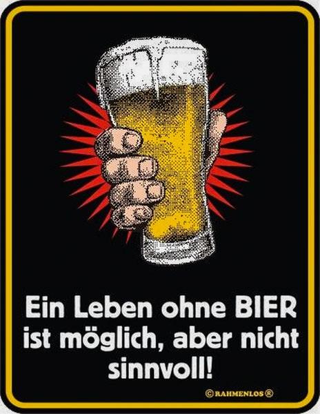 Blechschild Ein Leben ohne Bier - RAHMENLOS® 3413