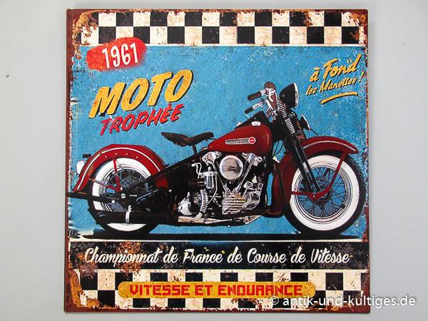 Blechschild Moto Trophee