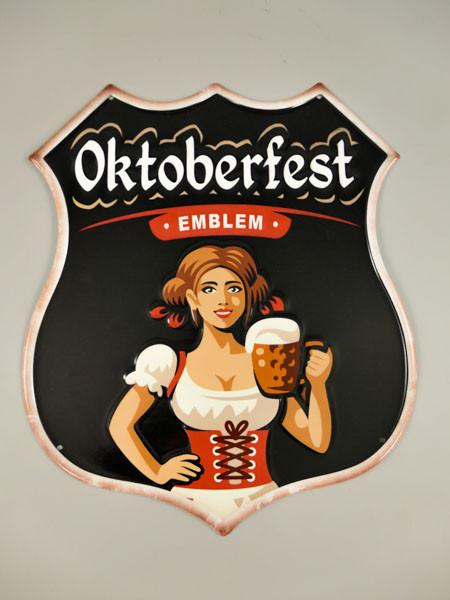 Blechschild Oktoberfest