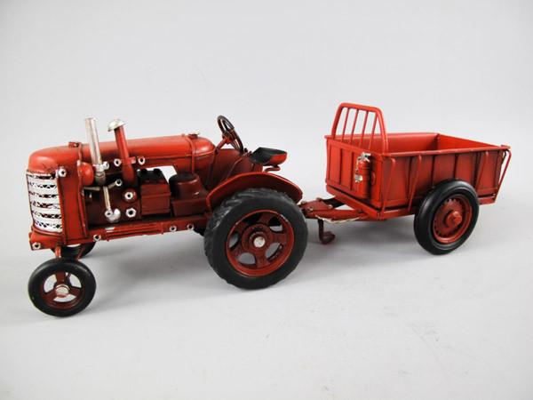 Traktor mit Anhänger Blechmodell 32 cm