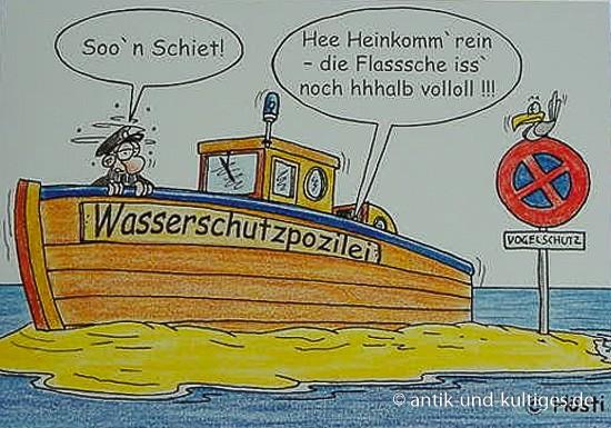 Emma-Postkarte Wasserschutzpolizei