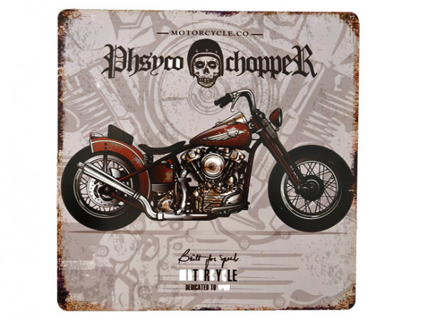Blechschild Phsyco Chopper Motorcycle