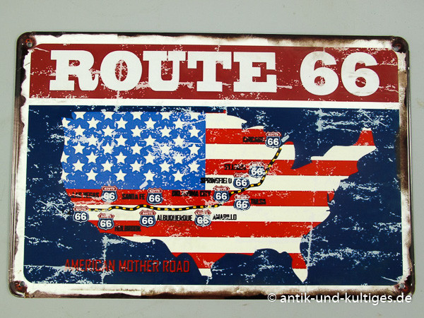 Blechschild Route 66 - G21