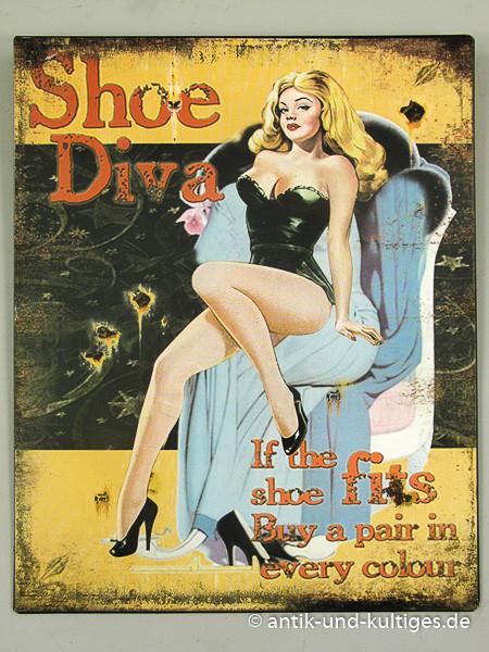 Blechschild Shoe Diva