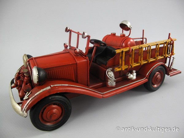 Feuerwehrauto Oldtimer Blechmodell 25 cm
