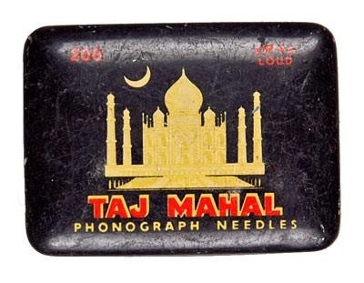 Taj Mahal, alte Grammophon Nadeldose