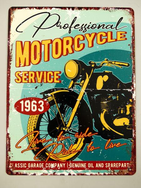 Blechschild Motorcycle Service