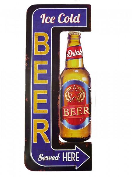 Blechschild Ice Cold Beer
