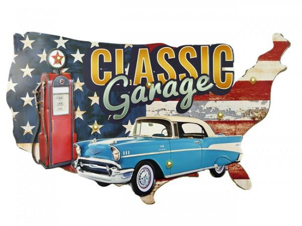 Blechschild Classic Garage Auto