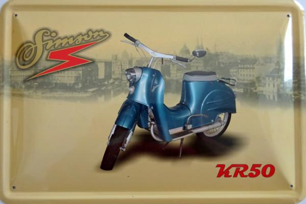 Blechschild Simson KR50