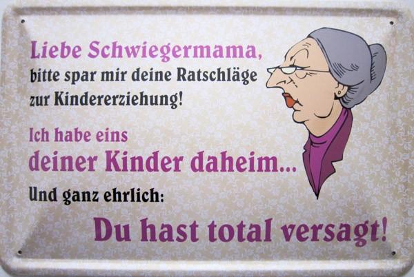 Blechschild Liebe Schwiegermama
