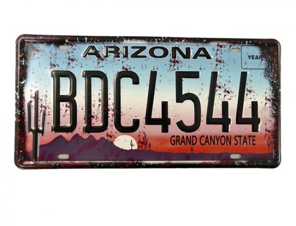 Blechschild Arizona Nummernschild