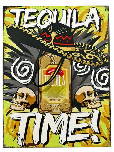 Blechschild Tequila Time