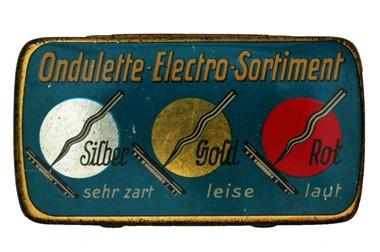 Ondulette Electro Sort., alte Grammohon Nadeldose