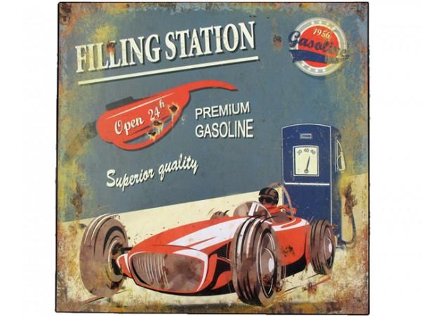 Blechschild Filling Station