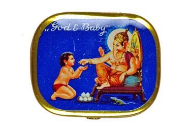 God & Baby, alte Grammophon Nadeldose