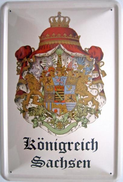 Blechschild Königreich Sachsen Wappen
