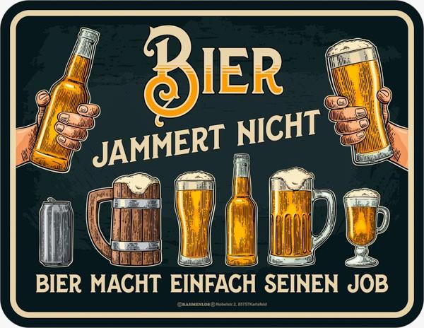 Kühlschrankmagnet Bier jammert nicht RAHMENLOS® 2442
