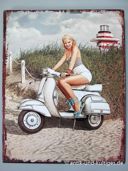 Blechschild Scooter