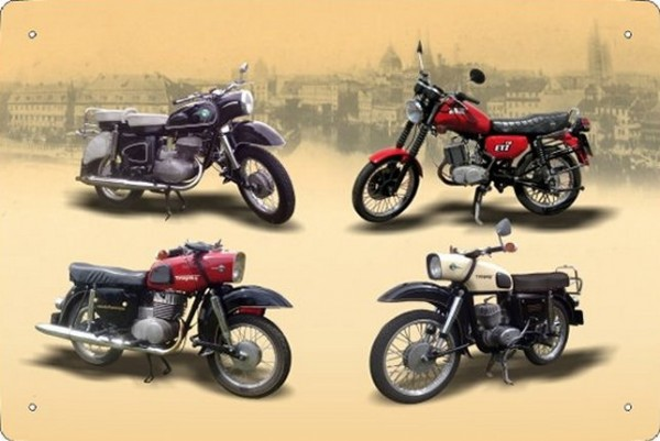 Blechschild Motorrad MZ