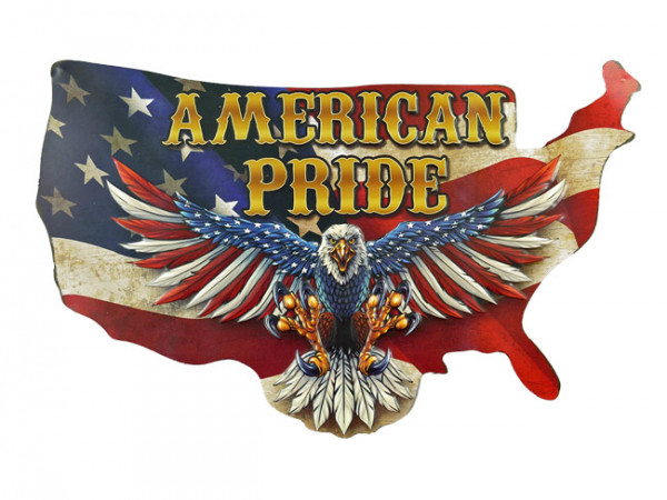 Blechschild American Pride