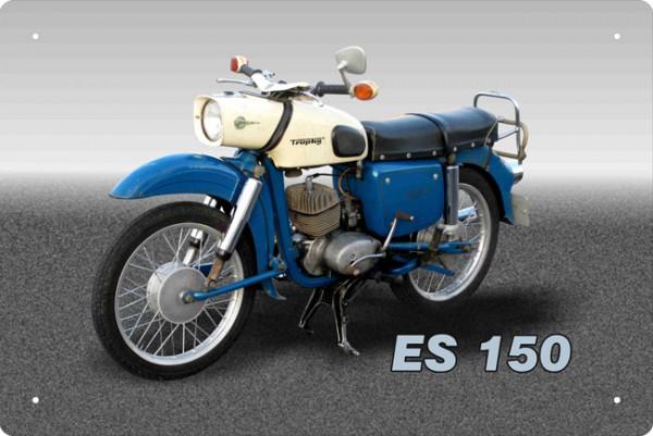 Blechschild Motorrad MZ ES 150