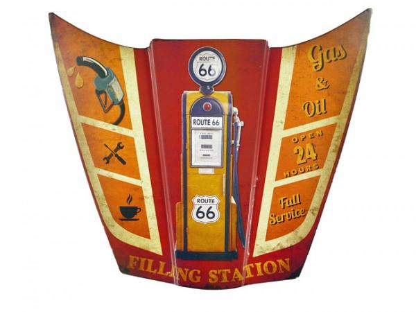Blechschild Motorhaube Gas & Oil