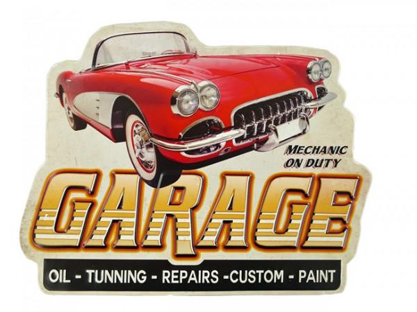 Blechschild Garage Oil Tunning Repair