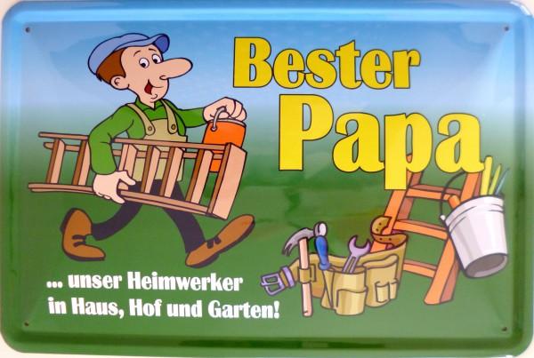 Blechschild bester Papa unser Heimwerker