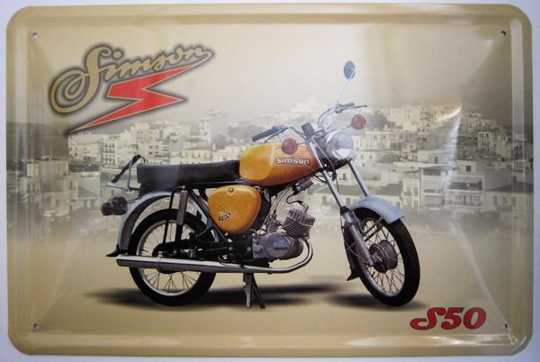 Blechschild Simson S50