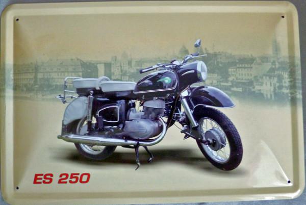 Blechschild Motorrad MZ ES 250