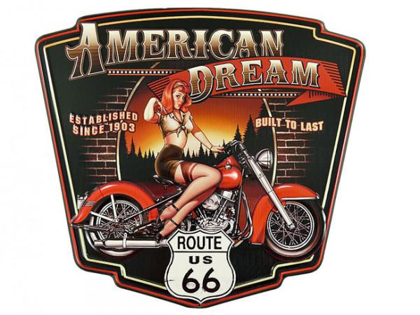 Blechschild American Dream
