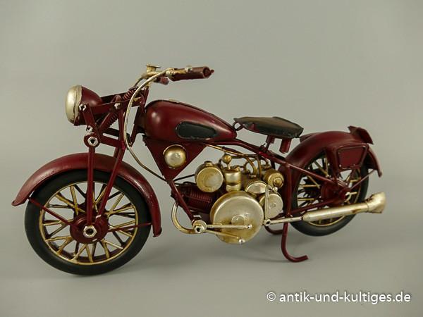 Motorrad rot Blechmodell 29 cm