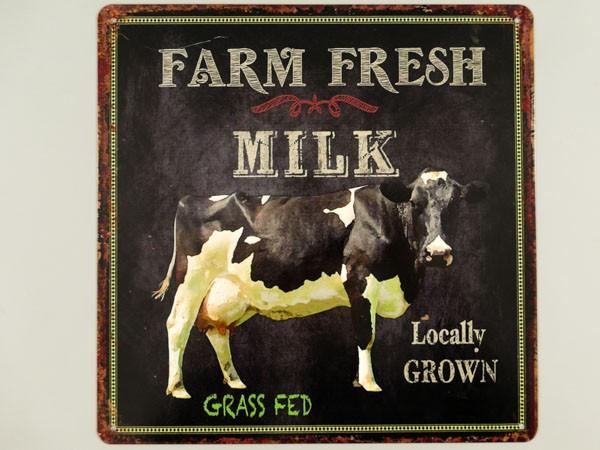 Blechschild Farm Fresh Milk - Milch