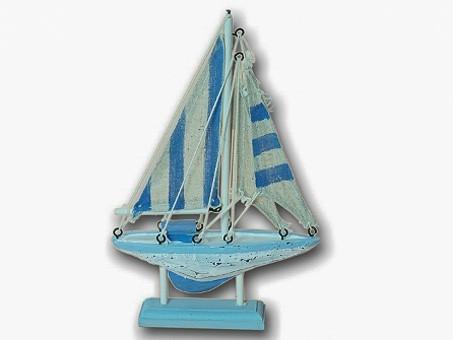 Modellschiff Segelboot in Shabby Look