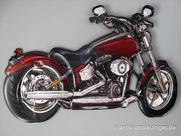Blechschild Motorrad