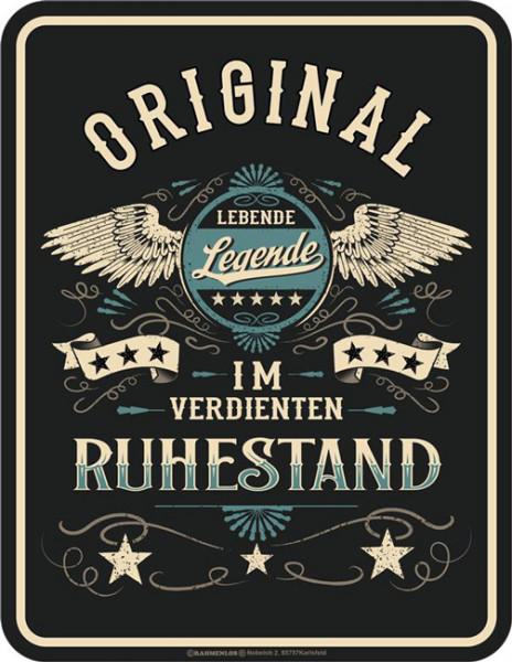 Blechschild Original im Ruhestand - RAHMENLOS® 3980