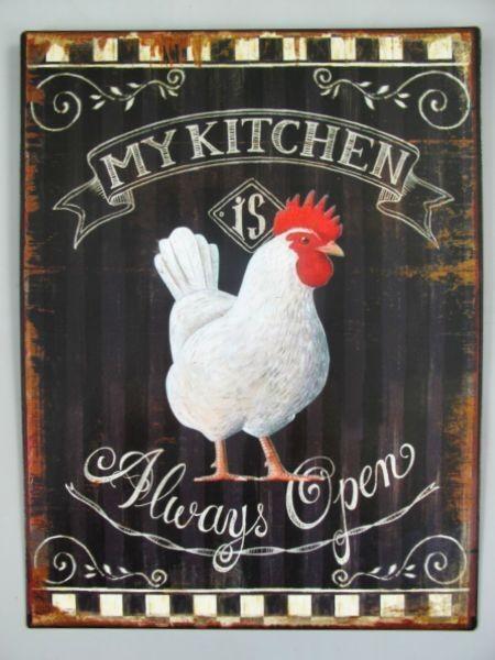 Blechschild Huhn My Kitchen