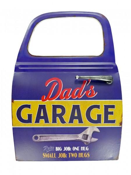 Blechschild Autotür Dads Garage