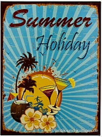 Blechschild Summer Holiday