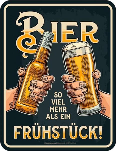 Blechschild Bier so viel mehr - RAHMENLOS® 3985