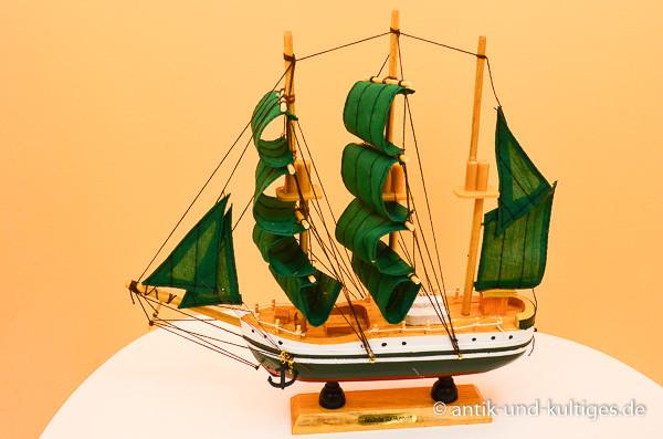 Modellschiff Alexander von Humboldt Schiffsmodell aus Holz - 24 cm